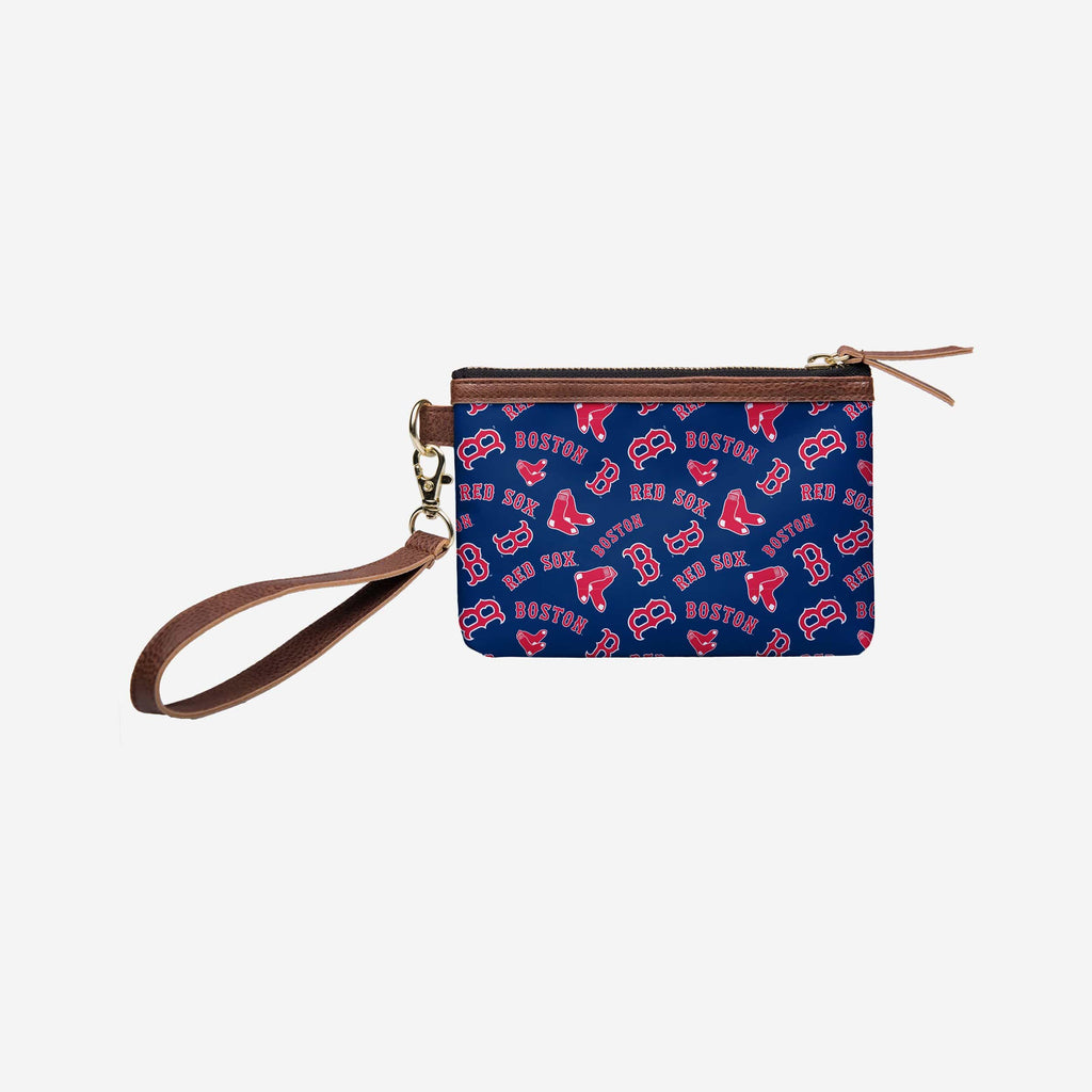 Boston Red Sox Printed Collection Repeat Logo Wristlet