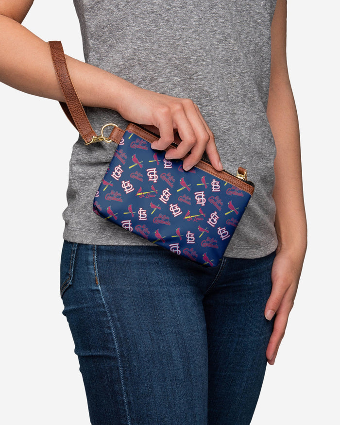 St Louis Cardinals Printed Collection Repeat Logo Wristlet FOCO - FOCO.com