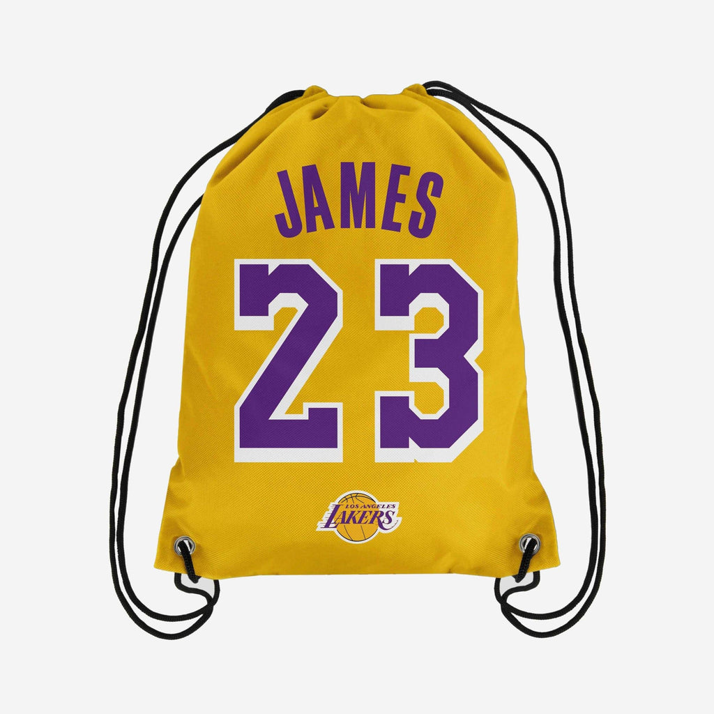 LeBron James Los Angeles Lakers Player Drawstring Backpack FOCO - FOCO.com