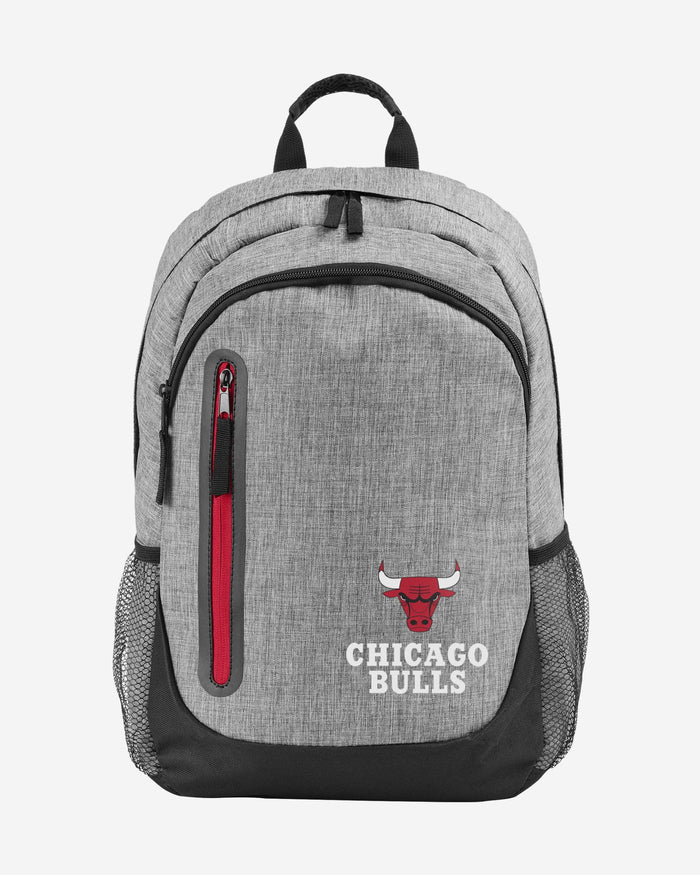 Chicago Bulls Heather Grey Bold Color Backpack FOCO - FOCO.com
