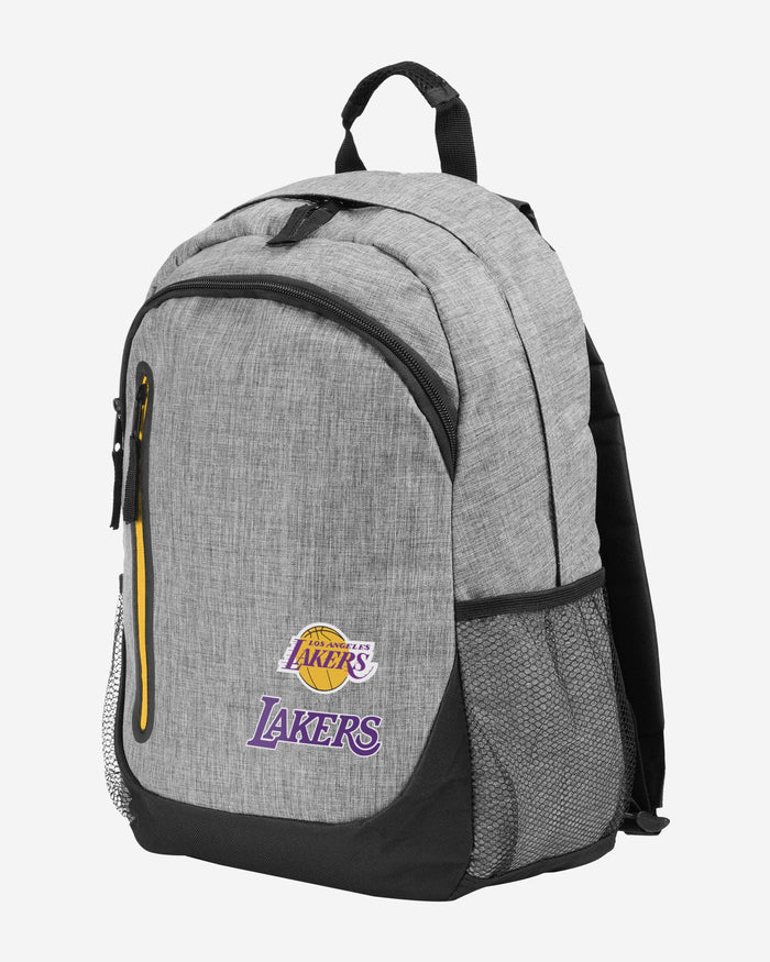 Los Angeles Lakers Heather Grey Bold Color Backpack FOCO - FOCO.com