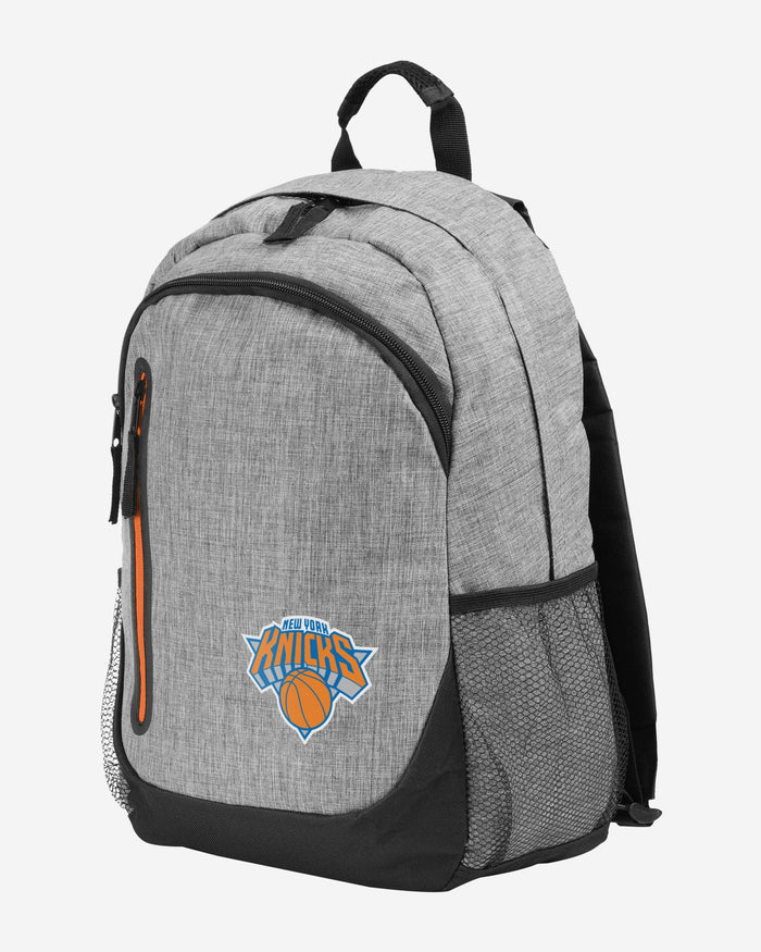 New York Knicks Heather Grey Bold Color Backpack FOCO - FOCO.com