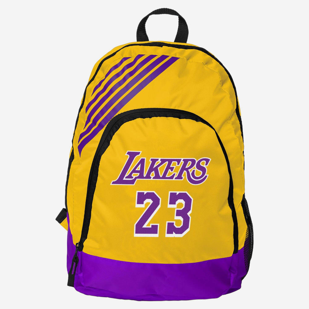 LeBron James Los Angeles Lakers Border Stripe Backpack FOCO - FOCO.com