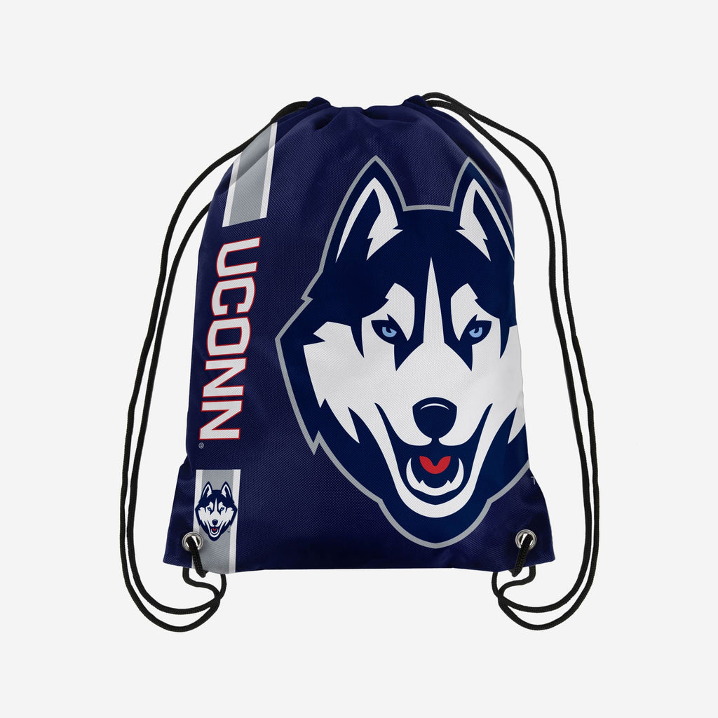 UConn Huskies Big Logo Drawstring Backpack FOCO - FOCO.com