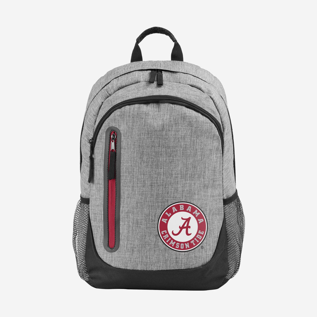 Alabama Crimson Tide Heather Grey Bold Color Backpack FOCO - FOCO.com