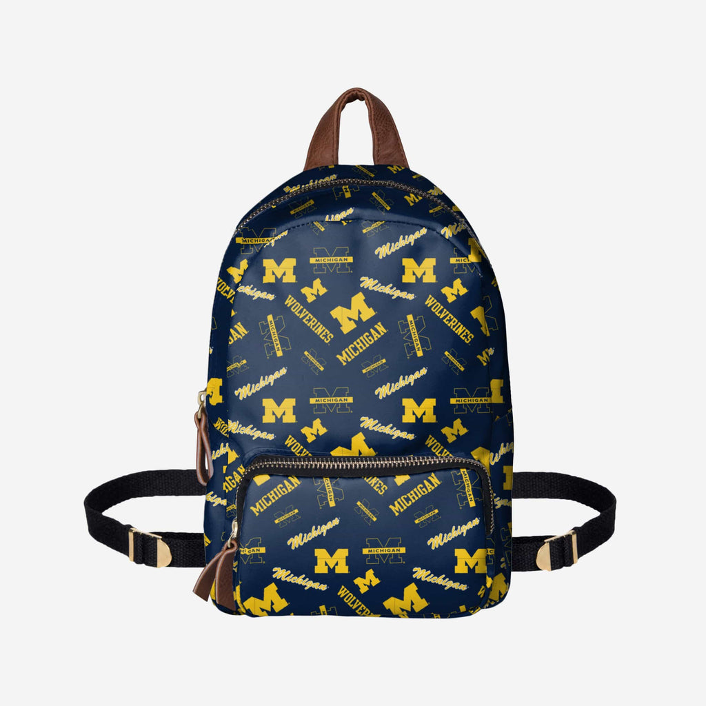 Michigan Wolverines Printed Collection Mini Backpack FOCO - FOCO.com