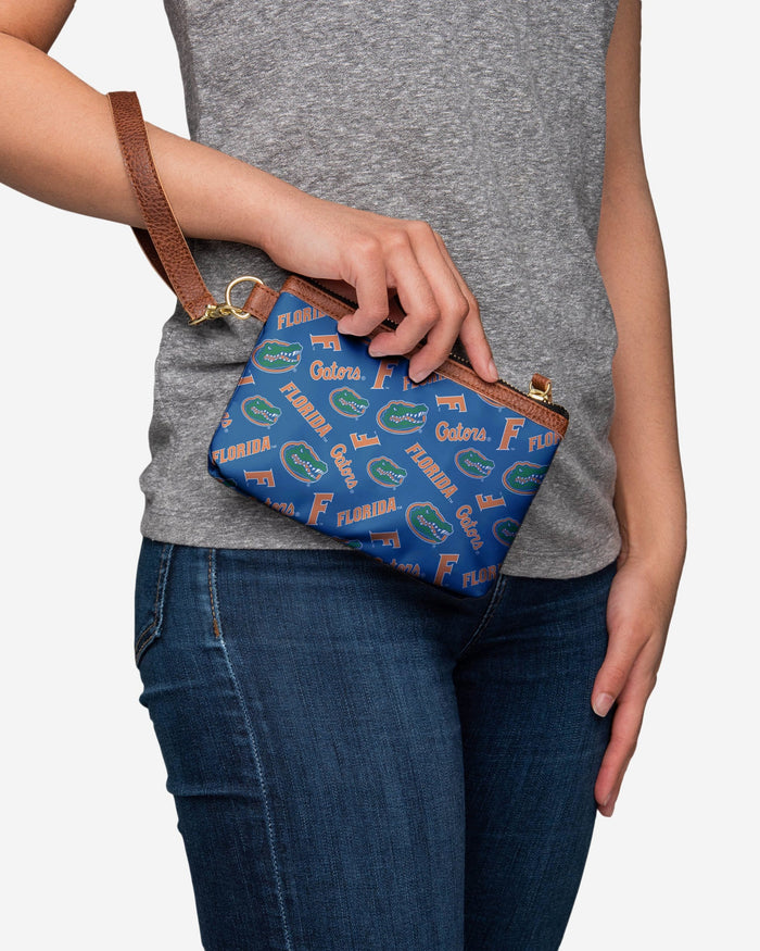 Florida Gators Printed Collection Repeat Logo Wristlet FOCO - FOCO.com