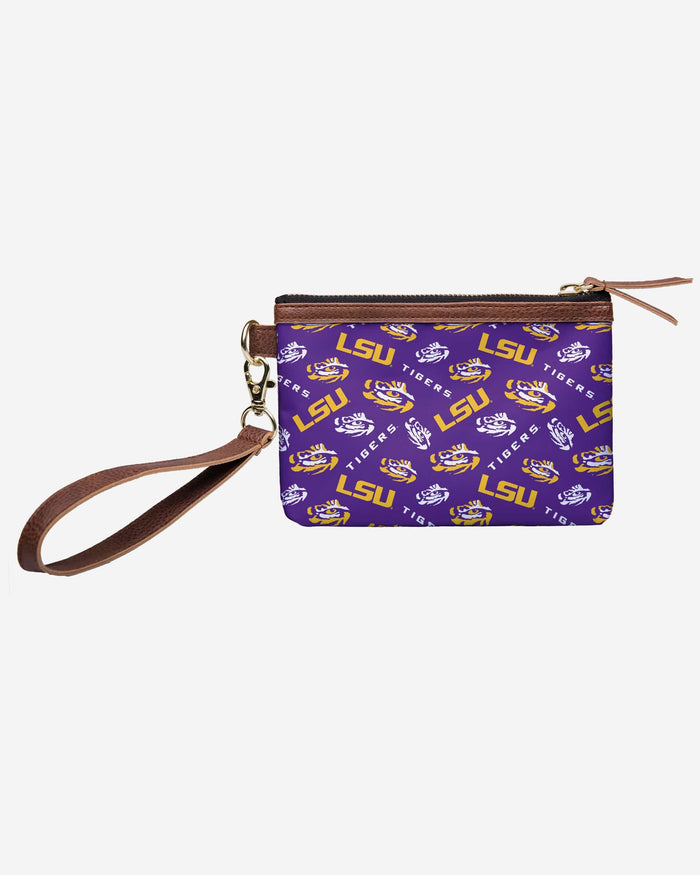LSU Tigers Printed Collection Repeat Logo Wristlet FOCO - FOCO.com