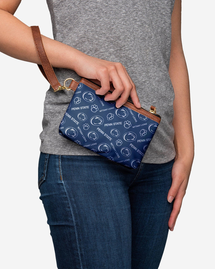 Penn State Nittany Lions Printed Collection Repeat Logo Wristlet FOCO - FOCO.com