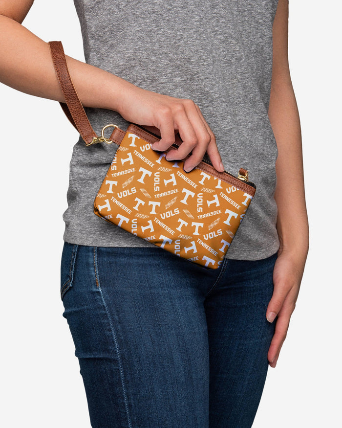 Tennessee Volunteers Printed Collection Repeat Logo Wristlet FOCO - FOCO.com