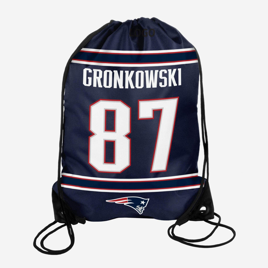 Rob Gronkowski New England Patriots Drawstring Backpack FOCO - FOCO.com