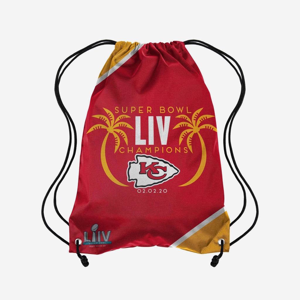 Kansas City Chiefs Super Bowl LIV Champions Team Color Drawstring Backpack FOCO - FOCO.com