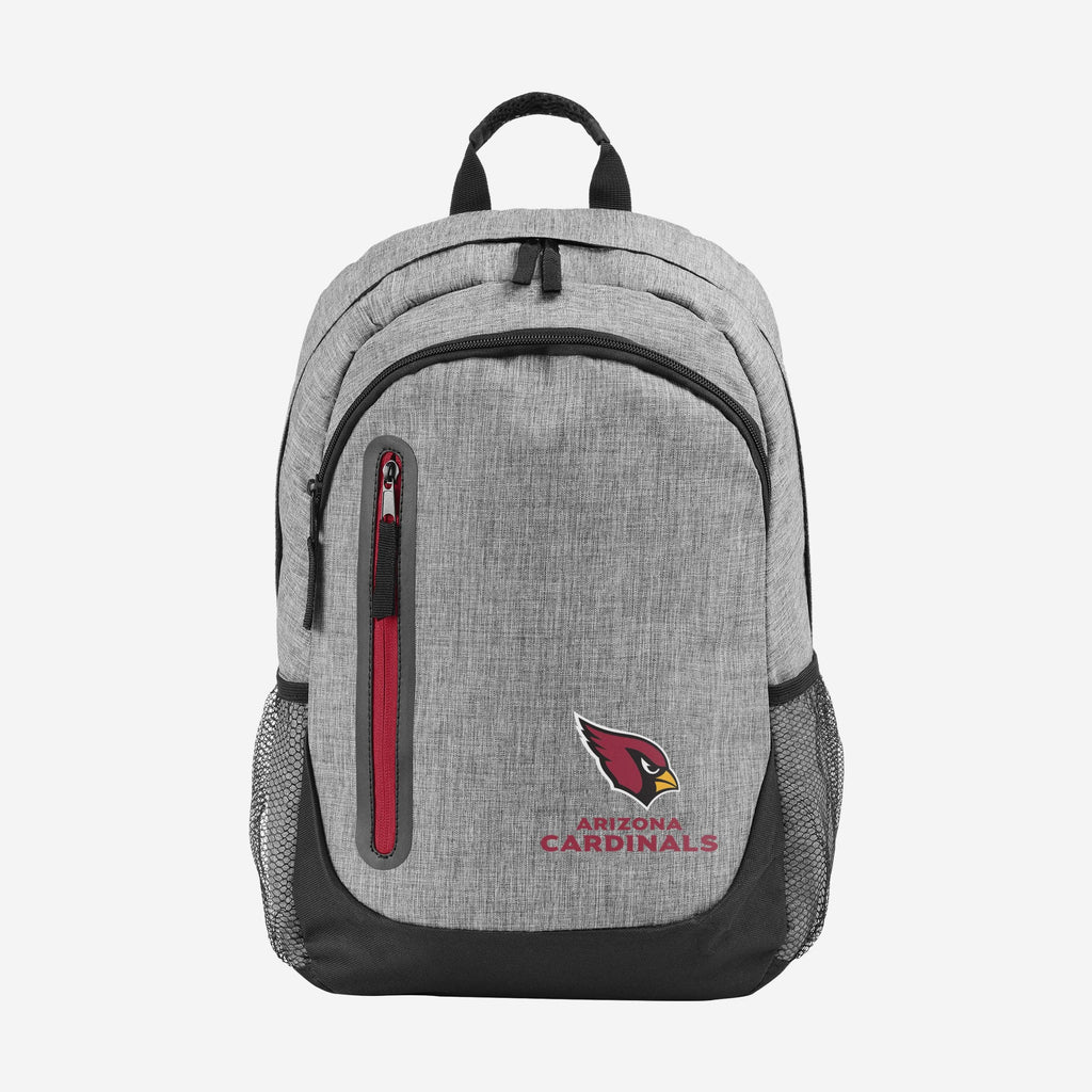 Arizona Cardinals Heather Grey Bold Color Backpack FOCO - FOCO.com