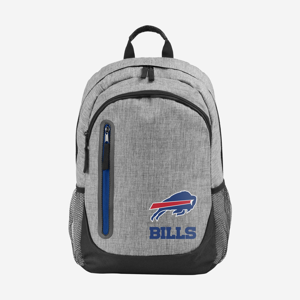 Buffalo Bills Heather Grey Bold Color Backpack FOCO - FOCO.com