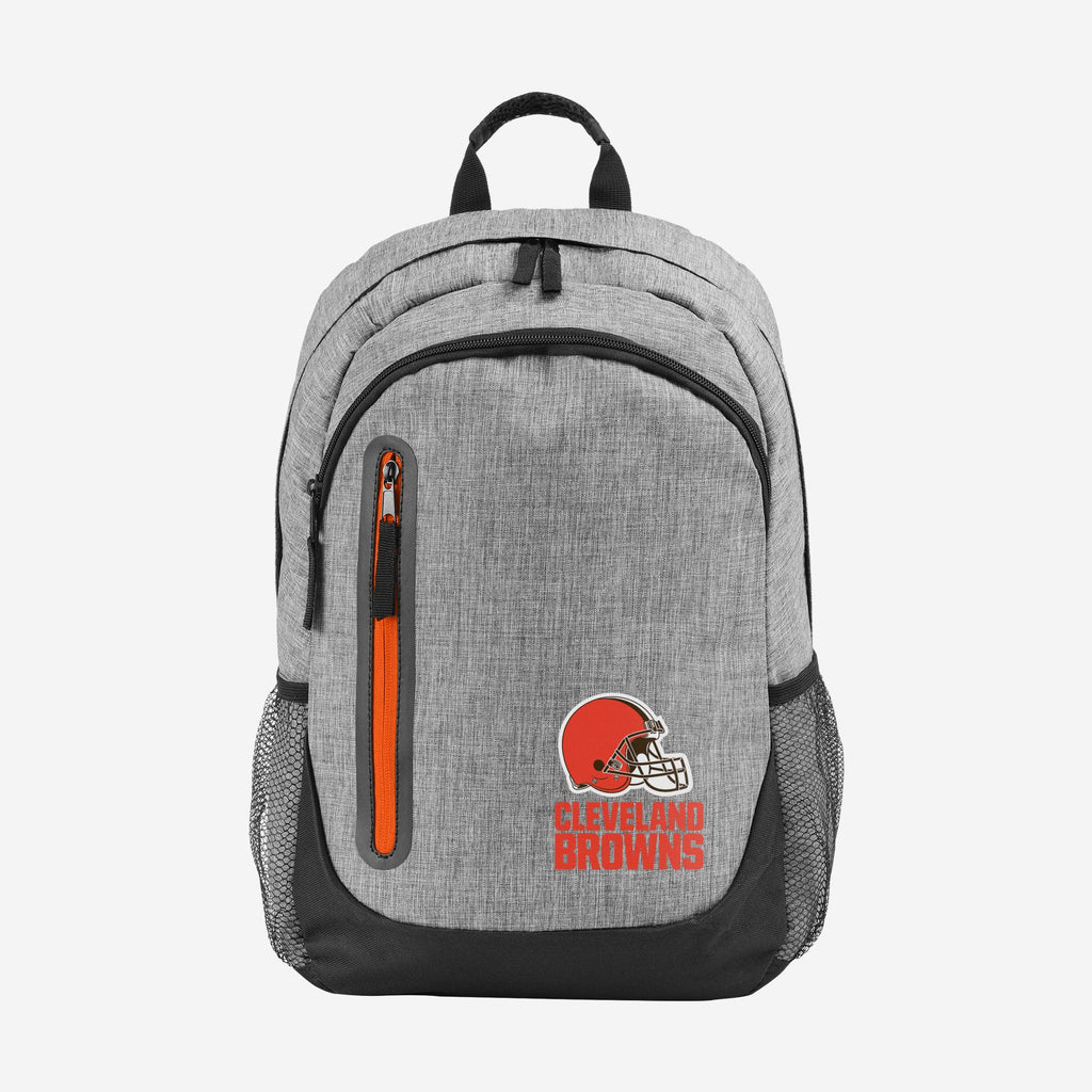 Cleveland Browns Heather Grey Bold Color Backpack FOCO - FOCO.com