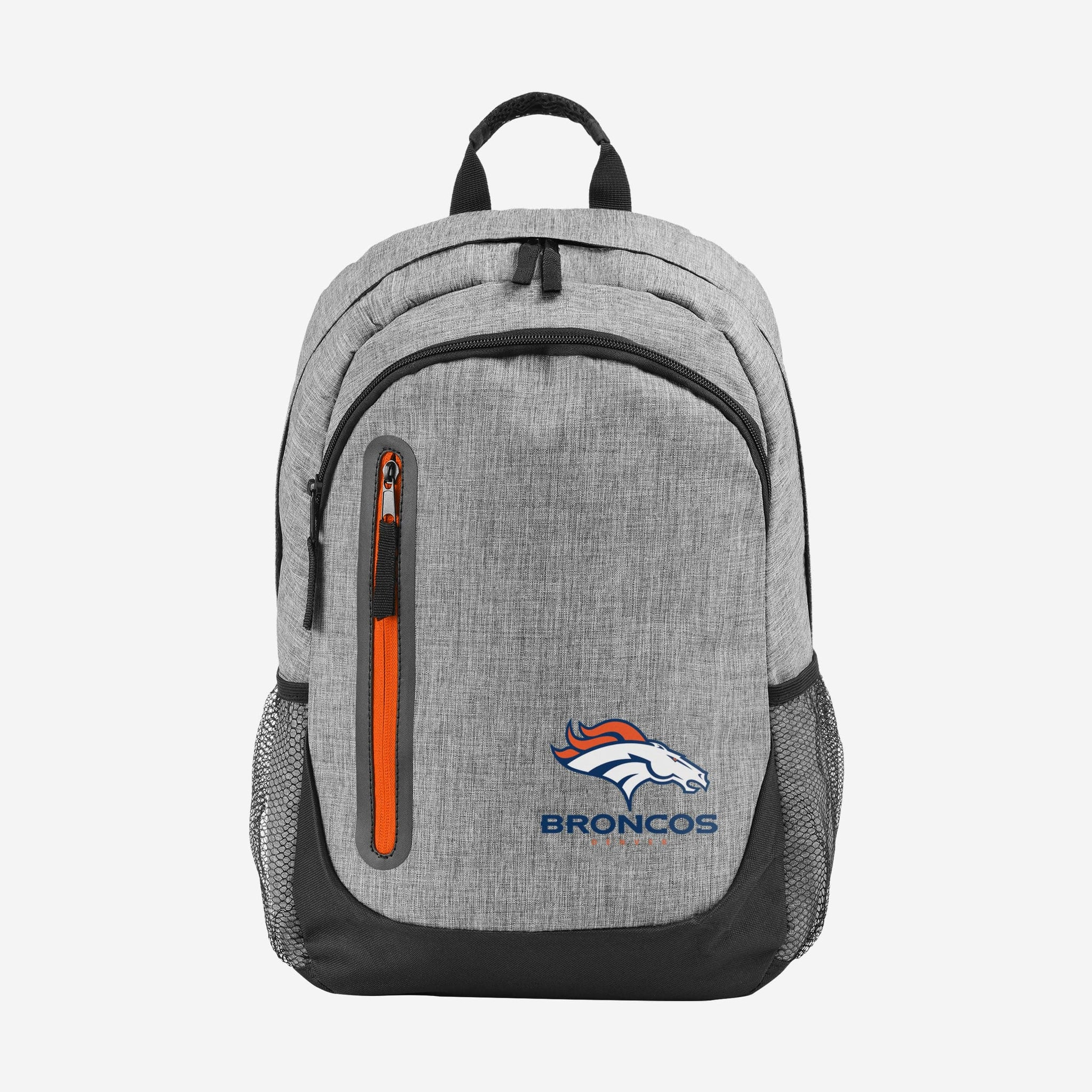 Denver Broncos Heather Grey Bold Color Backpack FOCO - FOCO.com