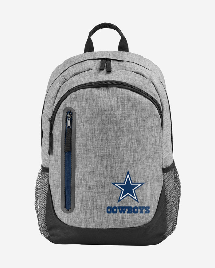 Dallas Cowboys Heather Grey Bold Color Backpack FOCO - FOCO.com