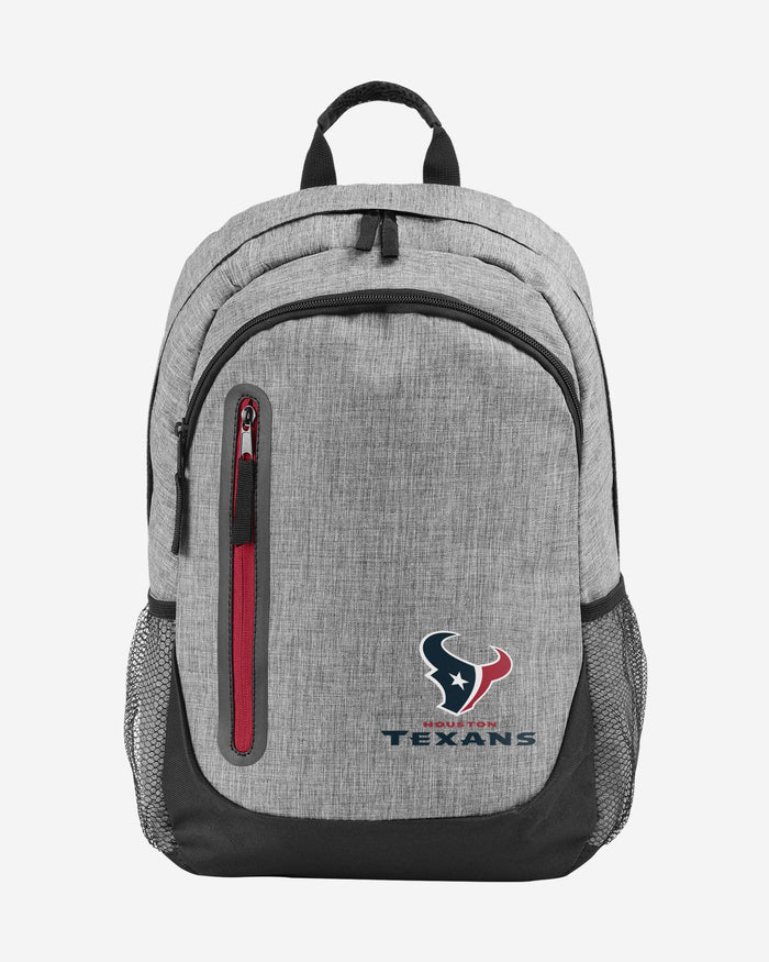 Houston Texans Heather Grey Bold Color Backpack FOCO - FOCO.com