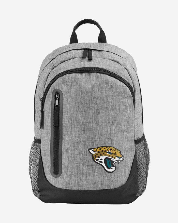 Jacksonville Jaguars Heather Grey Bold Color Backpack FOCO - FOCO.com
