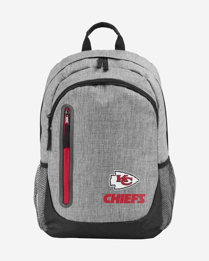 Kansas City Chiefs Heather Grey Bold Color Backpack FOCO - FOCO.com