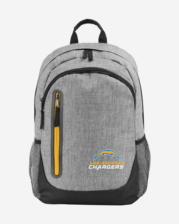Los Angeles Chargers Heather Grey Bold Color Backpack FOCO - FOCO.com