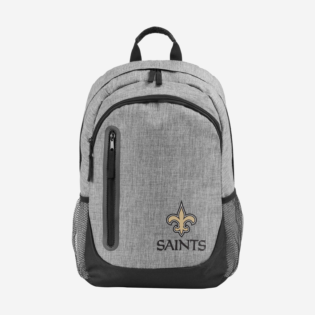 New Orleans Saints Heather Grey Bold Color Backpack