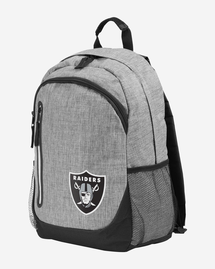 Las Vegas Raiders Heather Grey Bold Color Backpack FOCO - FOCO.com