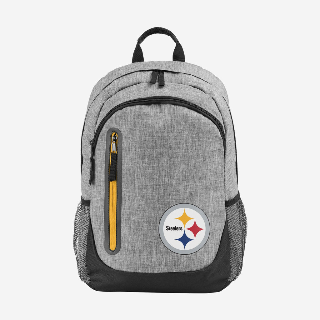Pittsburgh Steelers Heather Grey Bold Color Backpack