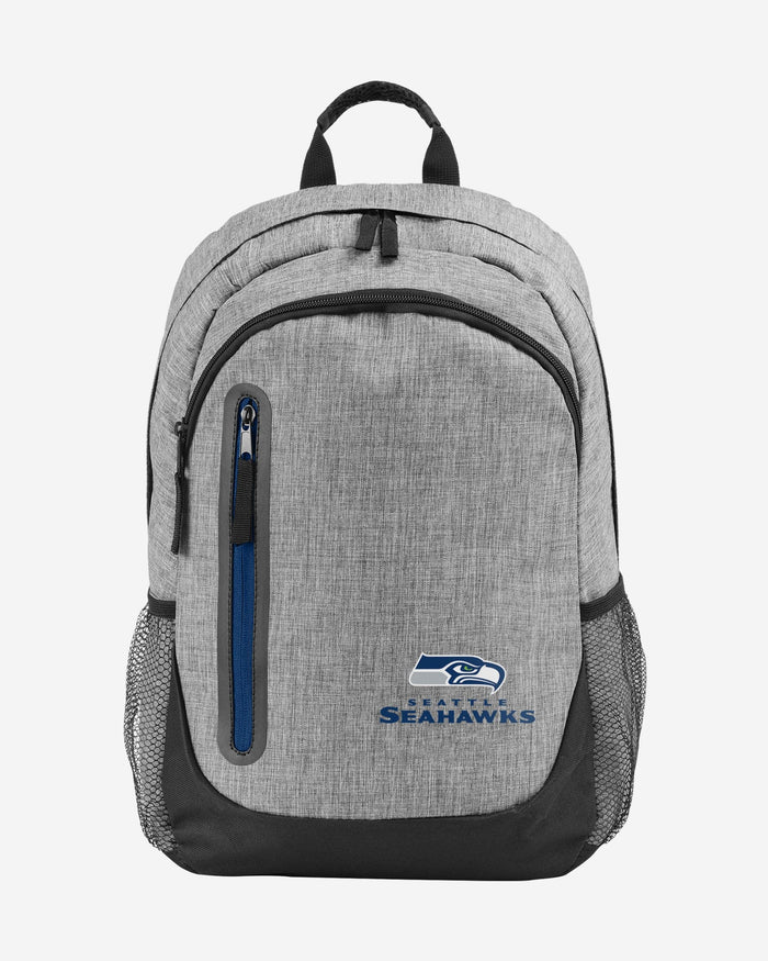 Seattle Seahawks Heather Grey Bold Color Backpack FOCO - FOCO.com