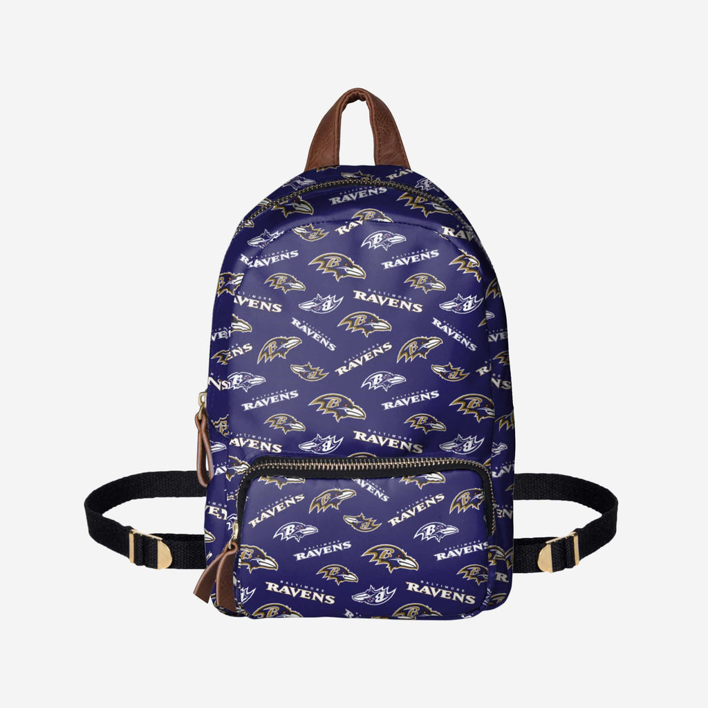 Baltimore Ravens Printed Collection Mini Backpack