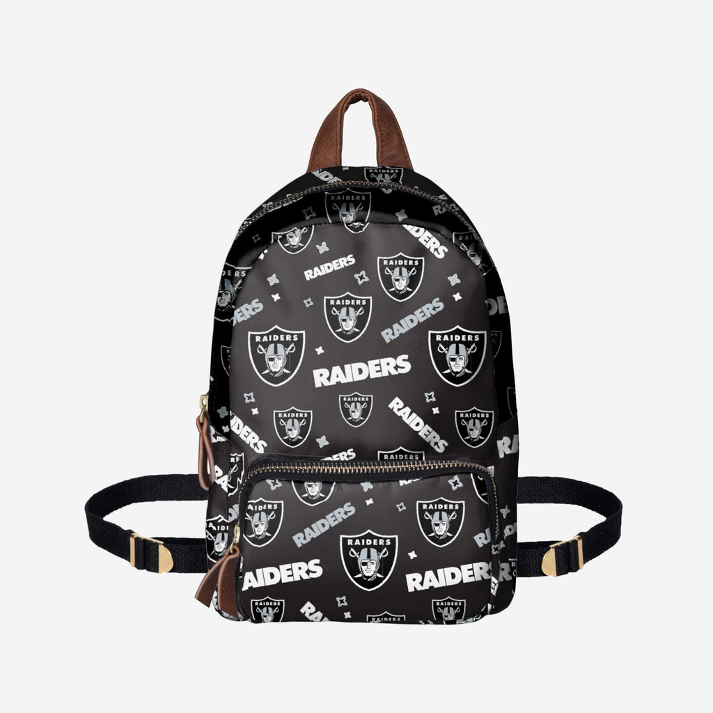 Oakland Raiders Repeat Print Printed Collection Mini Backpack FOCO - FOCO.com