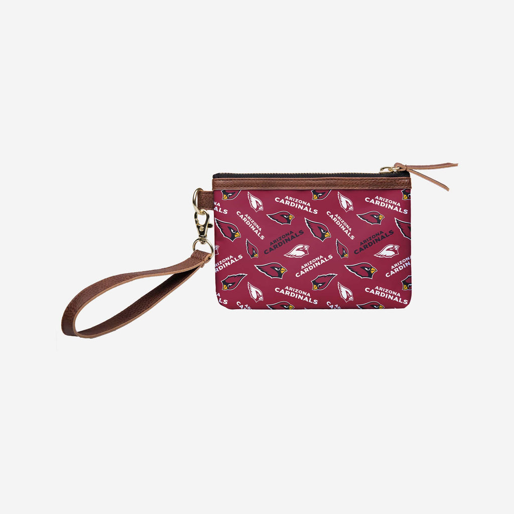 Arizona Cardinals Printed Collection Repeat Logo Wristlet