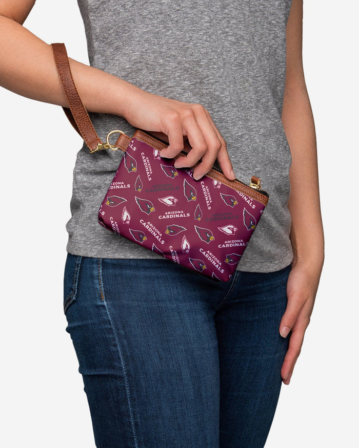 Arizona Cardinals Printed Collection Repeat Logo Wristlet FOCO - FOCO.com