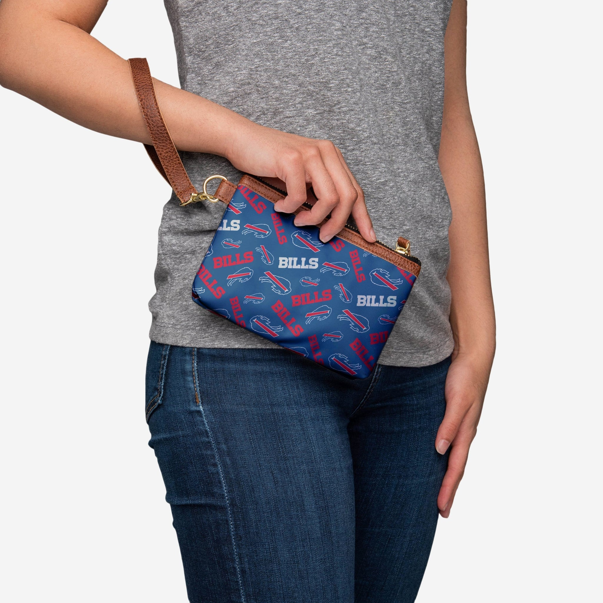 Buffalo Bills Printed Collection Repeat Logo Wristlet