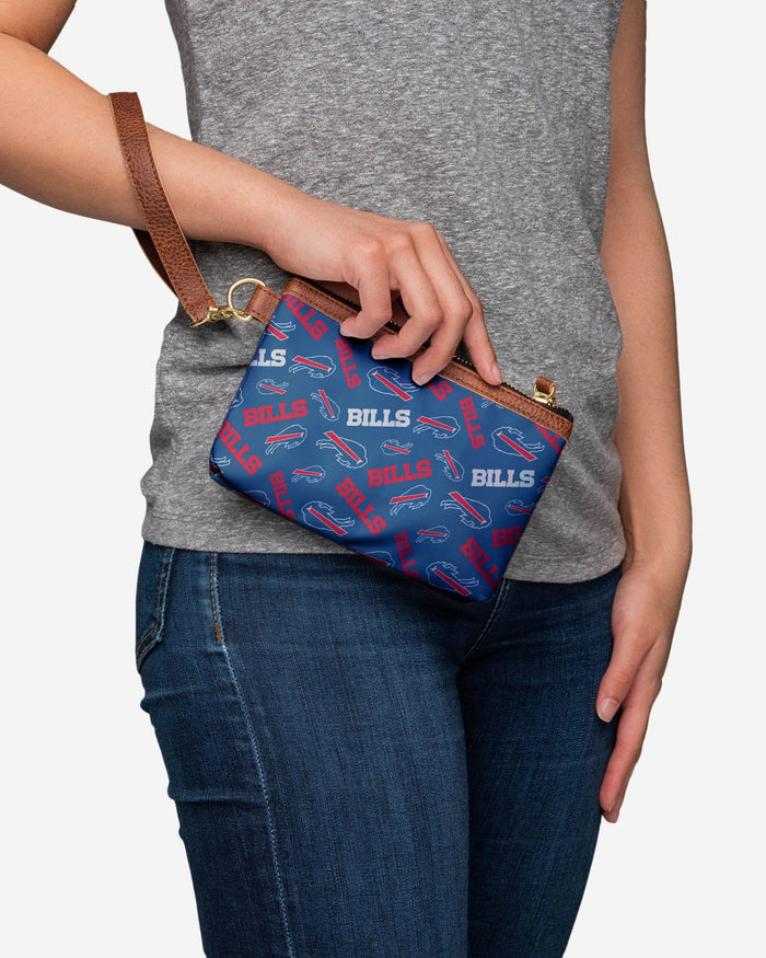 Buffalo Bills Printed Collection Repeat Logo Wristlet FOCO - FOCO.com