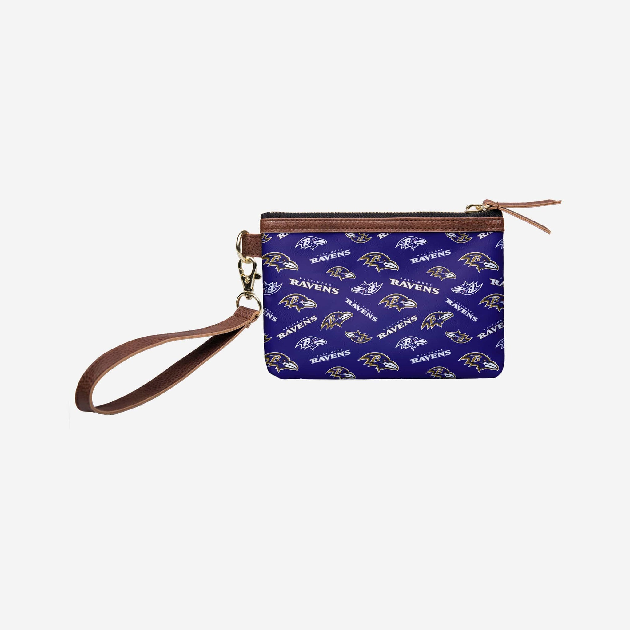Baltimore Ravens Printed Collection Repeat Logo Wristlet