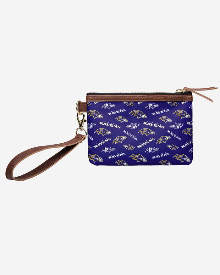 Baltimore Ravens Printed Collection Repeat Logo Wristlet FOCO - FOCO.com