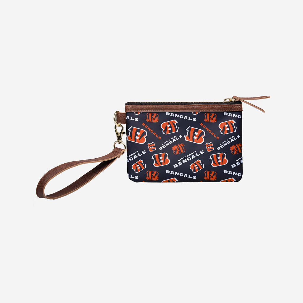 Cincinnati Bengals Printed Collection Repeat Logo Wristlet