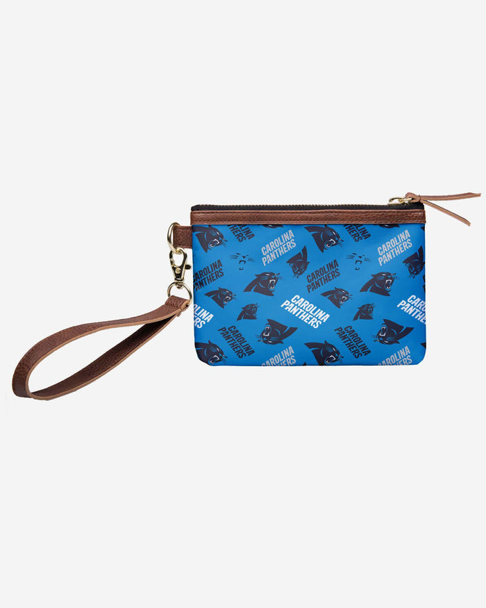 Carolina Panthers Printed Collection Repeat Logo Wristlet FOCO - FOCO.com