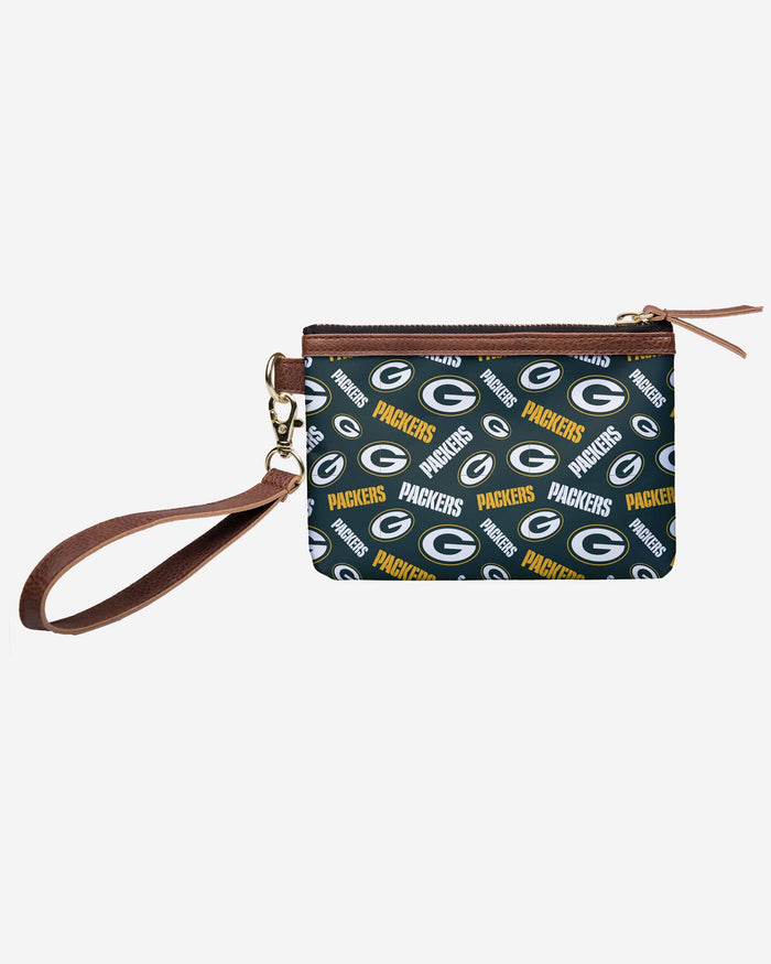 Green Bay Packers Printed Collection Repeat Logo Wristlet FOCO - FOCO.com