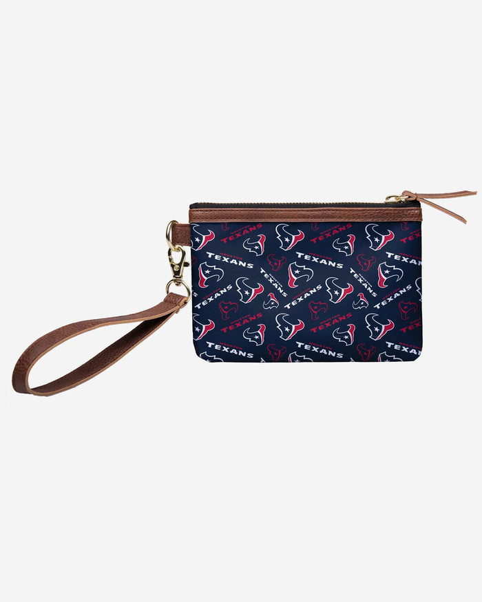 Houston Texans Printed Collection Repeat Logo Wristlet FOCO - FOCO.com