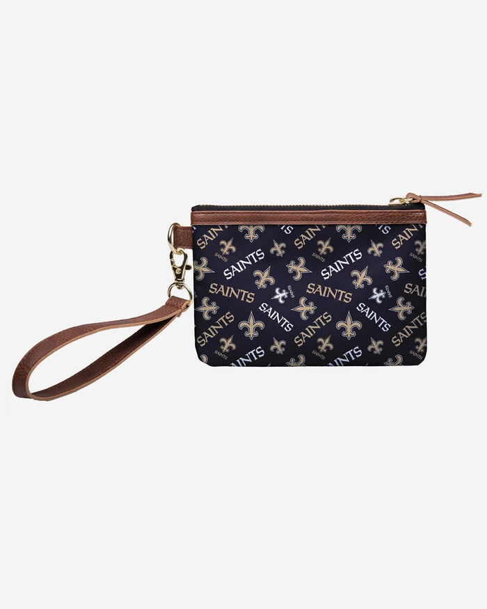 New Orleans Saints Printed Collection Repeat Logo Wristlet FOCO - FOCO.com