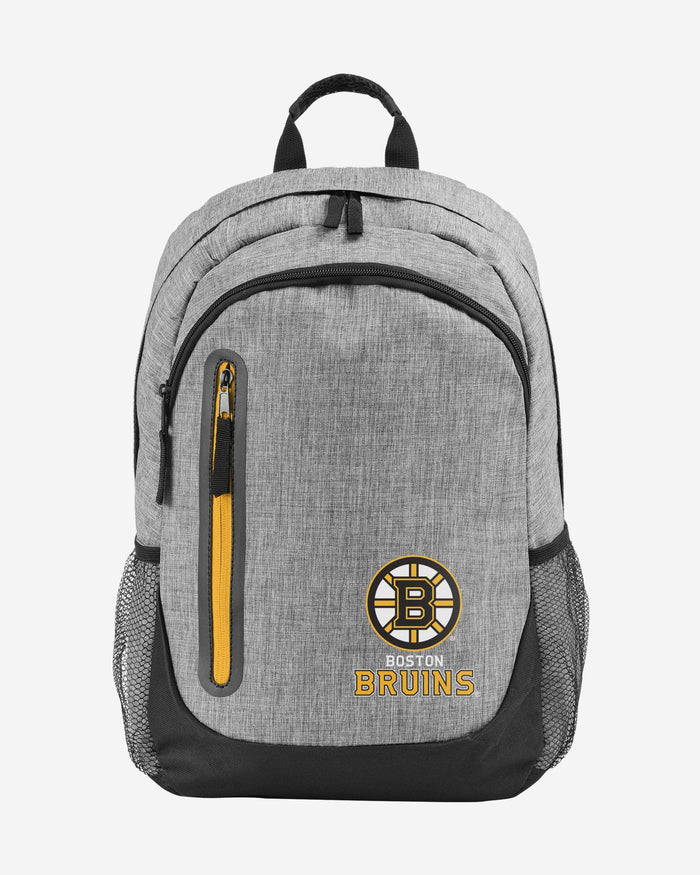 Boston Bruins Heather Grey Bold Color Backpack FOCO - FOCO.com