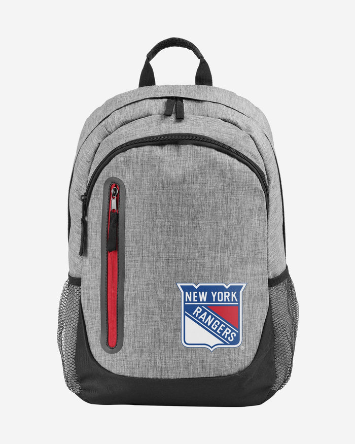 New York Rangers Heather Grey Bold Color Backpack FOCO - FOCO.com