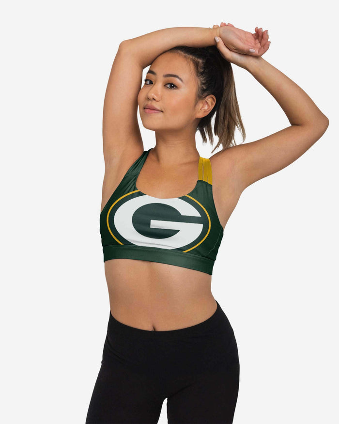 Green Bay Packers Womens Free Fan Sports Bra FOCO S - FOCO.com