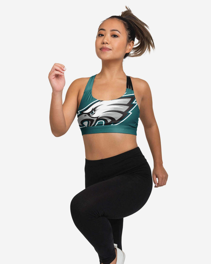 Philadelphia Eagles Womens Free Fan Sports Bra FOCO - FOCO.com