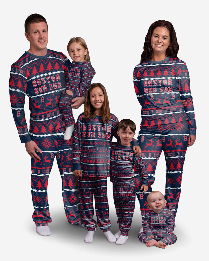 Boston Red Sox Womens Family Holiday Pajamas FOCO - FOCO.com
