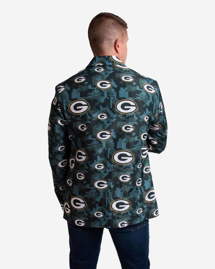 Green Bay Packers Digital Camo Suit Jacket FOCO - FOCO.com