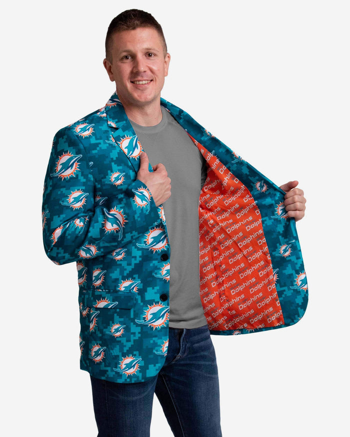 Miami Dolphins Digital Camo Suit Jacket FOCO - FOCO.com