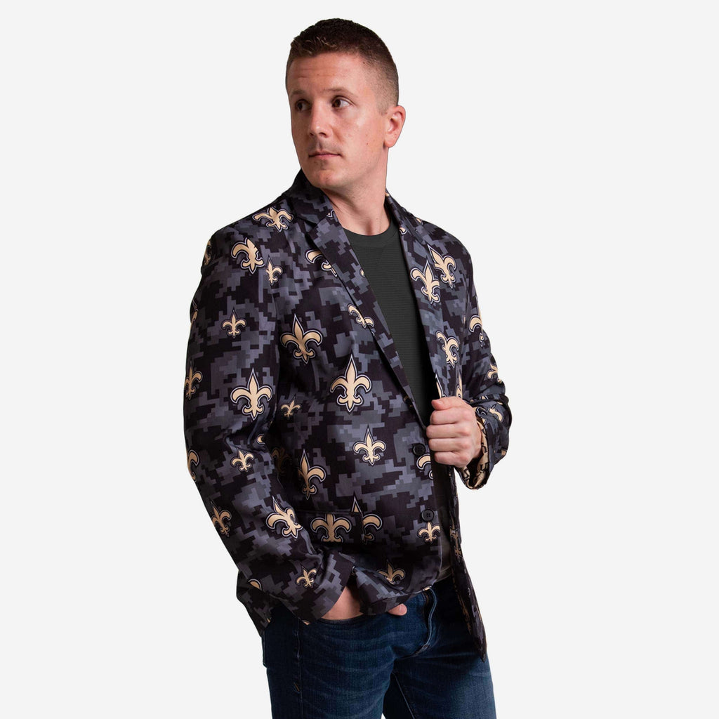 New Orleans Saints Digital Camo Suit Jacket FOCO 42 - FOCO.com
